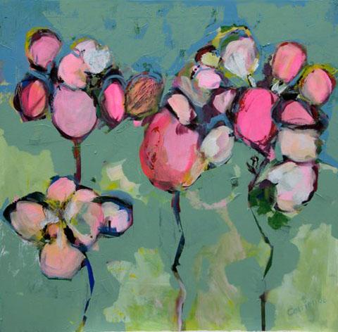 Catrien Art_Schilderij verkocht_Hemelse bloemen